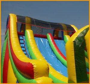 Inflatable Double Lane Splash Water Slide