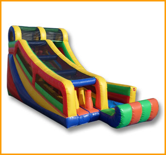 Inflatable Multicolor Incline Slide