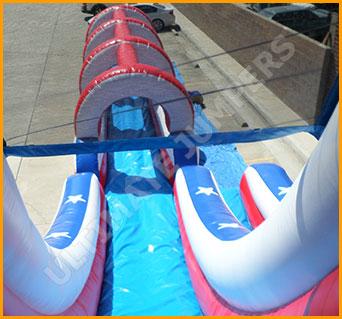 Inflatable Patriotic Splish Splash Water Slide