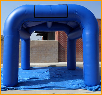Inflatable Tent with Optional Misting System