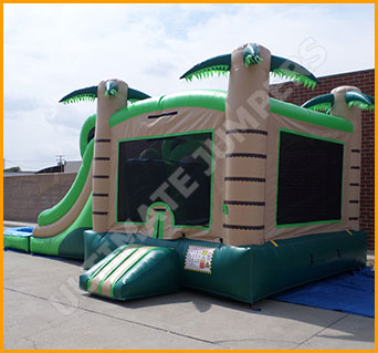 Inflatable Tropical Wet/Dry Double Slide Combo