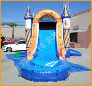 Inflatable Wet Dry Wizard Bouncer Slide Combo