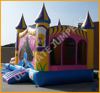 Inflatable Wet/Dry Princess Bouncer and Slide Combo