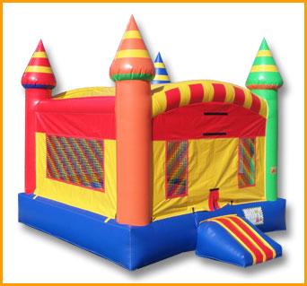 Multicolor Inflatable Castle Jumper