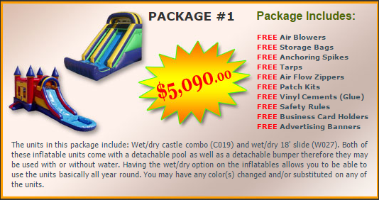 Ultimate Jumpers Bounce Slide Package Deal 1
