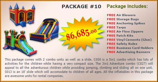 Ultimate Jumpers Bounce Slide Package Deal 10