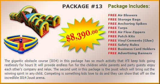 Ultimate Jumpers Bounce Slide Package Deal 13