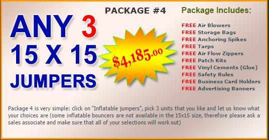 Ultimate Jumpers Bounce Slide Package Deal 4