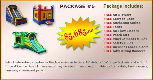Ultimate Jumpers Bounce Slide Package Deal 6